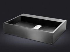- Countertop rectangular resin washbasin STRIPE | Countertop washbasin - Vallvé Bathroom Boutique