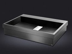 - Inset rectangular resin washbasin STRIPE | Inset washbasin - Vallvé Bathroom Boutique
