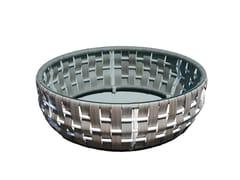 - Tavolino basso rotondo per contract STRIPS 22914 - SKYLINE design