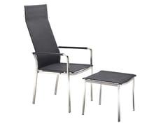 Sedia da giardino in tessuto con braccioli con schienale altoSTUDIO | Sedia con schienale alto - SOLPURI