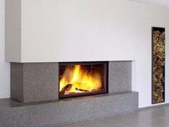 - Wood-burning wall-mounted glass and steel fireplace STÛV 21/125 SF - Stûv