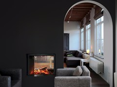 - Double-sided wood-burning built-in fireplace STÛV 21-85 DF - Stûv
