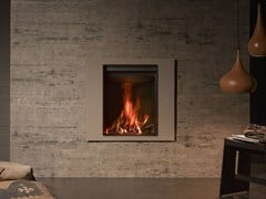 - Wood-burning wall-mounted fireplace with panoramic glass STÛV 22-70 A4 - Stûv