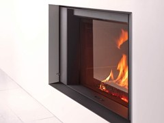 - Wood-burning built-in fireplace with panoramic glass STÛV 22-90 S1 - Stûv