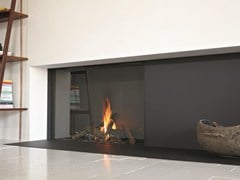 - Gas closed fireplace with panoramic glass STÛV B-100 H | Closed fireplace - Stûv