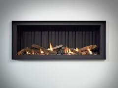 - Gas built-in steel fireplace STÛV B-100 PB - Stûv