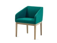 - Fabric easy chair with armrests SUNRISE - Z-Editions