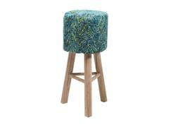 - Low barstool with footrest SUNSET BLUE - KARE-DESIGN