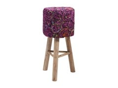 - Low barstool with footrest SUNSET PINK - KARE-DESIGN