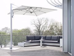 Ombrellone rettangolare con palo laterale SUNSHADE LOUNGE - CONMOTO BY LIONS AT WORK