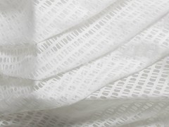 - Fabric with graphic pattern for curtains SUOMI BLANCO - Equipo DRT
