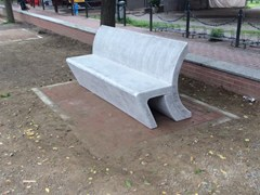 Panchina in pietra ricostruita con schienaleSWING | Panchina con schienale - MANUFATTI VISCIO