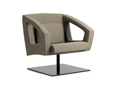 - Swivel armchair with armrests BUSINESS CLASS LOUNGE | Swivel armchair - Emmegi