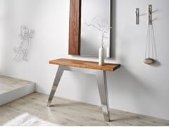 Consolle rettangolare in acciaio inox e legnoNORDIC   Consolle - ALTINOX MINIMAL DESIGN