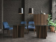 - Rectangular wood and glass table STRIPE | Table - Dall'Agnese