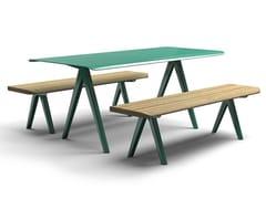 Tavolo per spazi pubblici rettangolare in acciaio zincatoNUNU | Tavolo per spazi pubblici - VESTRE