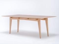 - Tavolo da pranzo rettangolare in legno massello TAMAZA - ST FURNITURE