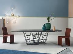 Tavolo rettangolare in marmoTANGLE | Tavolo in marmo - BONALDO