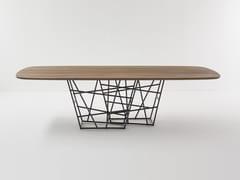 Tavolo rettangolare in legnoTANGLE | Tavolo in legno - BONALDO
