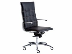 - Height-adjustable executive chair with 5-spoke base with casters TAYLORD SQUARED | Executive chair with casters - Luxy