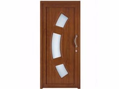 - Exterior custom glazed PVC entry door TEKNO TE067 - FOSSATI PVC