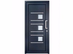 - Exterior custom glazed PVC entry door TEKNO TE201 - FOSSATI PVC