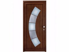 - Glazed exterior custom wood-product entry door TEKNO TE248 - FOSSATI PVC
