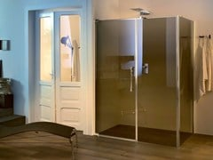 - Glass shower cabin with pivot door and fixed element TEKNOAIR - 2 - INDA®