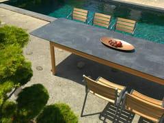 - Extending rectangular HPL garden table TEKURA | Rectangular table - Les jardins
