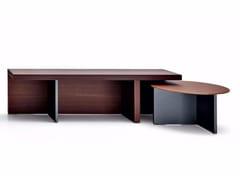 - Wooden coffee table TETRIS | Round coffee table - MOLTENI & C.