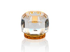 - Crystal candle holder TEXAS - CLEAR / AMBER - Reflections Copenhagen