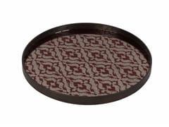 - Round tray BURGUNDY IKAT | Round tray - Notre Monde