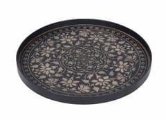 - Round wooden tray BLACK MARRAKECH - Notre Monde