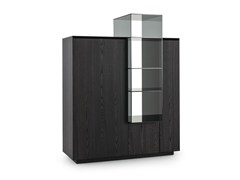 - Wooden highboard with doors THECA COCKTAIL - Poliform
