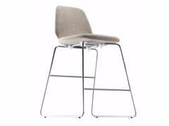 - Sled base fabric counter stool TINDARI STOOL - 553 - Alias
