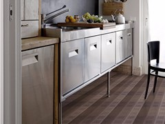 - Striped floor wallpaper TISSU 2 - Inkiostro Bianco