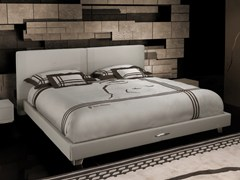 - Leather double bed with upholstered headboard TL 230 | Double bed - Tonino Lamborghini Casa