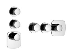 - 3 hole thermostatic shower mixer TONDO WELLNESS 43234 - Gessi