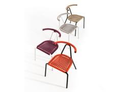 Sedia da giardino impilabile in acciaio zincatoTORO | Sedia da giardino - B-LINE