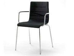 - Fabric chair with armrests TRACCIA   Chair with armrests - Debi