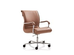 - Swivel task chair with 5-Spoke base with armrests PULCHRA | Task chair with 5-Spoke base - Emmegi