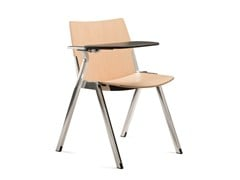 - Stackable training chair with writing tablet CAVEA | Training chair with writing tablet - Emmegi