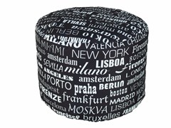 - Fabric pouf TRAMONTANA MINIRONDE - Be Different