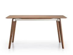 - Extending rectangular walnut table TRANSALPINA | Walnut table - Punt