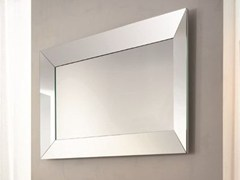 - Rectangular wall-mounted framed mirror TRAPEZIO | Rectangular mirror - RIFLESSI
