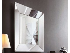 - Square framed mirror TRAPEZIO | Square mirror - RIFLESSI