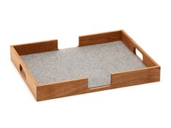 - Rectangular wooden tray Tray - HEY-SIGN