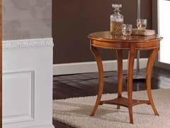 - Tavolino rotondo in legno massello TRECCINA - Arvestyle