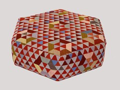 - Upholstered wool pouf TRIANGLEHEX SWEET PINK | Pouf - Golran