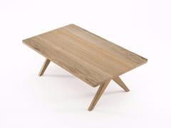 - Rectangular oak coffee table TRIBUTE TB02-O - KARPENTER